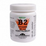 Mega B2 vitamin 20 mg (100 tabletter)
