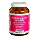 Multi B-vitamin kompleks HealthCare (90 tabletter)
