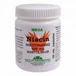 Niacin (nikotinamid) 420 mg (50 tabletter)