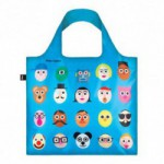 Shopper Loqi Blue Faces Øko-Tex certificeret (1 stk)