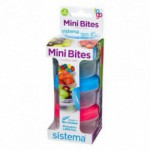 Mini bites to go 130 ml Grøn, blå, pink Sistema (1 stk)
