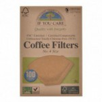 Coffee filters no. 4 ubleget If you care (100 stk)